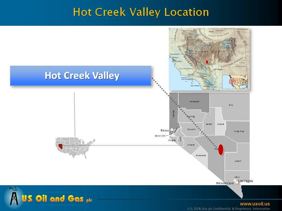 Hot Creek Valley location